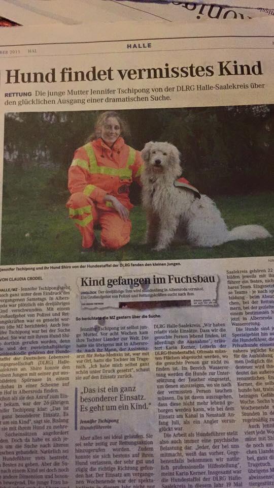 Hund findet vermisstes Kind – Einsatzbericht über Shiro